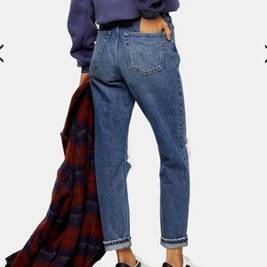 Topshop Jeans - Topshop Ripped Mom Jeans